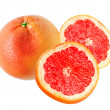 Red grapefruit isolated on white background — Stock Photo #8958347
