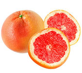 Red grapefruit isolated on white background — Stock Photo