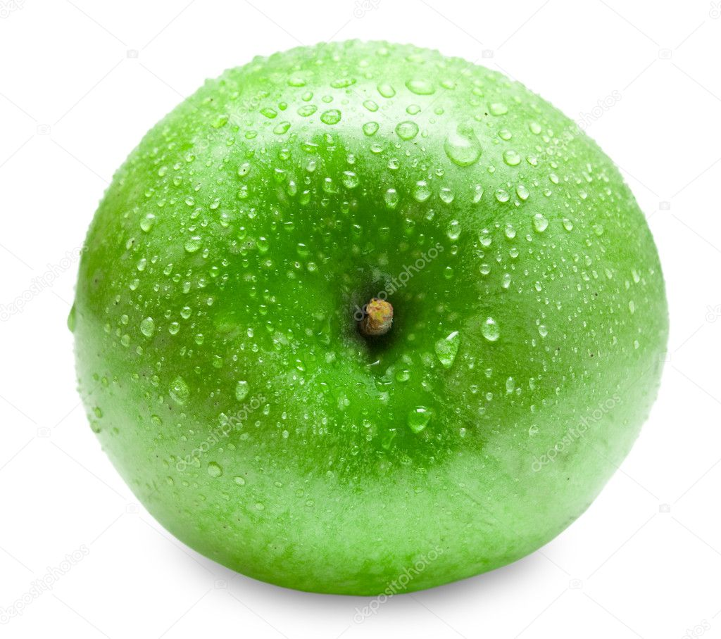 Green apple isolated on white background — Stock Photo #9100879