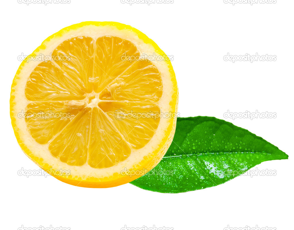 Lemon isolated on white background — Stock Photo #9798638