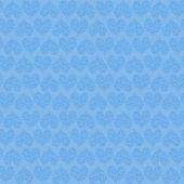 蓝色心无缝模式 — 图库照片