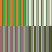 Four Seamless Irish Stripe Patterns — Stock Photo