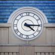 Big Clock Roman Numerals - Stockfoto