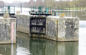 Lock on the Sarthe — Stock Photo