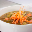 Pea Soup with Carrots — Stock Photo