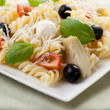 Pasta Salad Isolated — Stock Photo