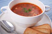 Minestrone Soup for Lunch — Stock Photo