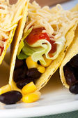 Close Up Vegetarian Tacos — Stock Photo