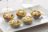 Quiche Appetizer on Table — Stock Photo