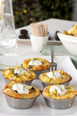 Five Mini Quiches — Stock Photo
