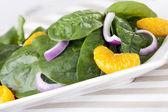 Spinach Mandarin Salad — Stock Photo