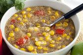 Amaranth Corn Chowder — Stock Photo