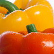 Closeup of Two Sweet Peppers — Stock Photo