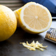 Stock Photo: Cut Lemon and Zest