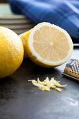 Cut Lemon and Zest — Stock Photo