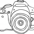 Stock Vector: Hand drawn camera