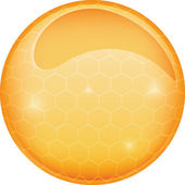 Vector glass sphere, ball honey — Stock Vector
