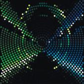 Disco ljus prickar mönster på mörk bakgrund — Stockvektor