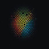 Disco light dots pattern on dark background — Stock Vector