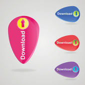 Web download icon design element. — Stock Vector