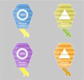 Web badges — Stock Vector