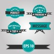 Vector set of retro labels — Stock vektor