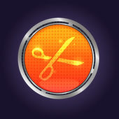 Vector Lava button — Stock Vector