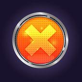Vector Lava button — Vecteur