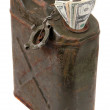 Dollar notes and jerrycan — Stock Photo