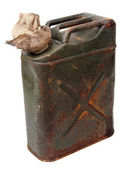 Jerrycan and cloth — Stock Photo