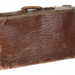 Antiquarian brown suitcase — Stock Photo