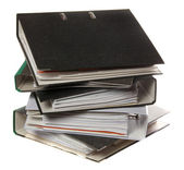 Stack of folders as symbol for lot of work — Stock Photo