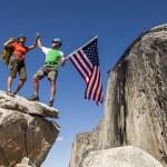 Climbers on the summit. — Stock Photo #10643372