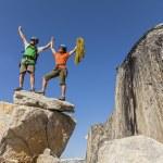 Climbers on the summit. — Stock Photo #10643563