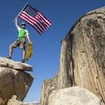 Climber on the summit. — Stock Photo #10643751