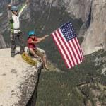 Climber on the summit. — Stock Photo #10644079