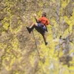Rock climber struggles. — Stock Photo #10645107