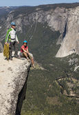 Climbers on the summit. — Stock Photo