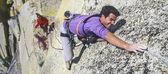 Rock climber in action. — Stock Photo