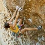 Female climber challenged. — Stock Photo #8139331