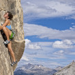 Climber gripping the rock. — Stock Photo