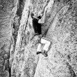 Stock Photo: Rock climber.
