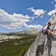 Male rock climber. - Stock Photo