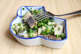 Herring salad with onion — Stock Photo