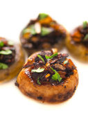 Sauteed button mushrooms — Foto Stock
