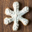 Christmas snow flake cookie — Stock Photo #8073316