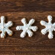 Christmas snow flake cookies — Stock Photo
