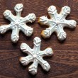 Christmas snow flake cookies — Stock Photo #8158297