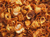 Golden fried shallots — Stock Photo