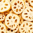 Sliced lotus root — Stock Photo